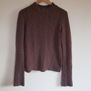 Free People Earth tone Cable Sweater